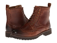 Clarks Montacute Lord Dark Tan Leather Men's Lace Up Boots Brown