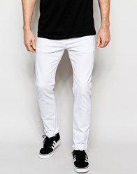Asos Stretch Slim Jeans In White White