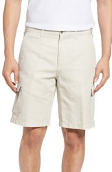 Peter Millar Men's Big And Tall Coastal Linen Blend Cargo Shorts Stone