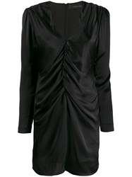 Federica Tosi Draped Mini Dress Black