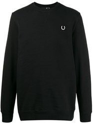 Fred Perry Raf Simons X Laurel Detail Sweatshirt Black