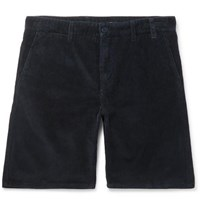 Norse Projects Aros Cotton Corduroy Shorts Navy