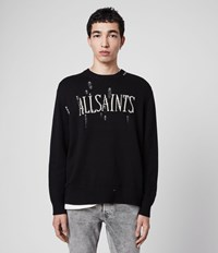 Allsaints Destroy Saints Crew Jumper Black
