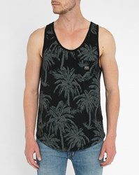 Denim And Supply Ralph Lauren Black Slubbed Cotton Tank Top