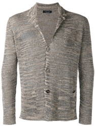Roberto Collina Patch Pocket Cardigan Brown