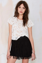 Nasty Gal Lovers And Friends Daycation Beaded Crop Top