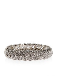 Accessorize Crystal Leaf Stretch Bracelet