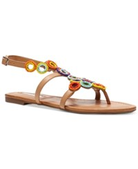 Inc International Concepts Marstie Embellished Strappy Flat Sandals Only At Macy's Women's Shoes Buff Tan
