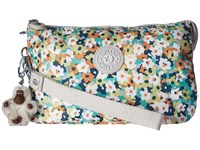 Kipling Creativity Xl Printed Pouch Meadow Flower Green Clutch Handbags Multi