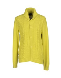 Blauer Knitwear Cardigans Men Yellow
