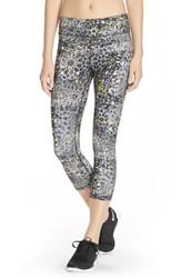 Women's Lija 'No Fear' Print Capri Leggings