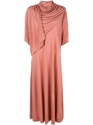 Co Draped Neck Dress Pink