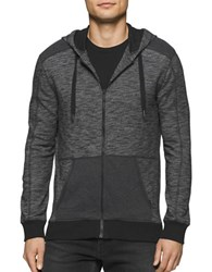 Calvin Klein Jeans Cross Dye French Terry Hoodie Black