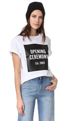 Opening Ceremony Oc Logo Short Sleeve Tee White