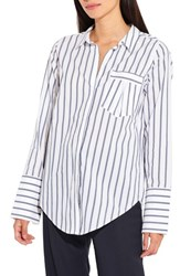 Ayr Women's The Great Hope Stripe Shirt White Navy
