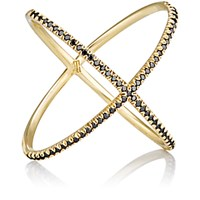 Eva Fehren Women's Black Diamond And Yellow Gold 'X' Ring No Color