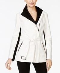 Inc International Concepts Colorblocked Faux Leather Belted Jacket Only At Macy's