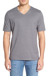 Men's Vince Camuto Pima Cotton V Neck T Shirt Charcoal