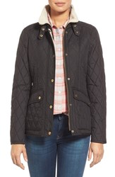 Women's London Fog Quilted Jacket With Faux Shearling Trim
