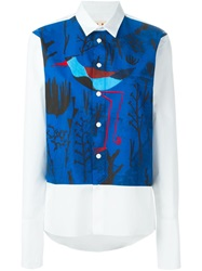 Marni Bird Print Shirt White