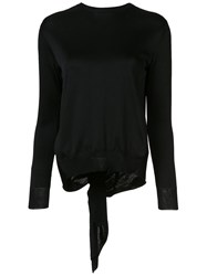 Cushnie Et Ochs Open Back Blouse Black