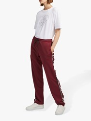 French Connection Yvonne Stripe Joggers Rosso Red