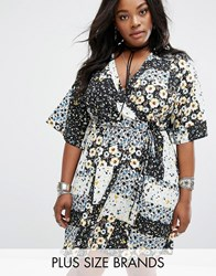 Alice And You Patchwork Wrap Dress Multi