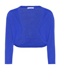 Oscar De La Renta Cashmere And Silk Cardigan Blue