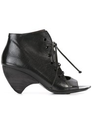Marsell Lace Up Ankle Boots Black