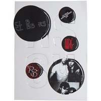 Raf Simons Black And Red Logo Pin Set