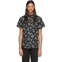 Naked And Famous Denim Black Floral Sketch Shirt