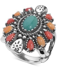 American West Multi Gemstone Statement Ring 3 1 2 Ct. T.W. In Sterling Silver