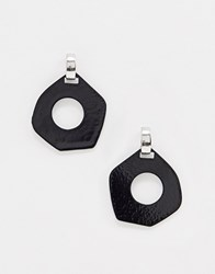 Ny Lon Nylon Abstract Resin Earrings Black
