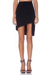 Finders Keepers Love Drunk Asymmetrical Skirt Black