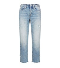 Allsaints Boys Frayed Jeans Blue