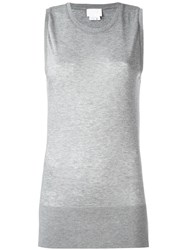 Dkny High Low Hem Tank Top Grey