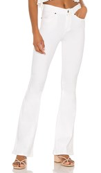 Dr. Denim Macy Flare. White With Rips