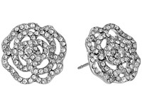 Kate Spade Crystal Rose S O Studs Earrings Clear Silver