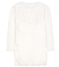 Dolce And Gabbana Lace Blouse White