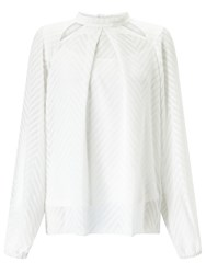 Alice By Temperley Somerset Cut Out Chevron Blouse Cream