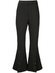 Ellery High Rise Cropped Trousers Women Cotton Polyester Spandex Elastane Wool 4 Black