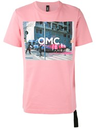 Omc Graphic Print T Shirt Unisex Cotton M Pink Purple