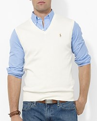 Polo Ralph Lauren Pima Cotton Sweater Vest Cresent Cream