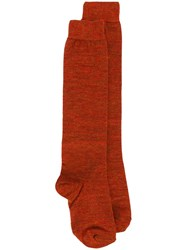 Isabel Marant Knee High Socks Yellow And Orange