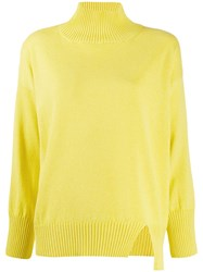 Antonelli Knitted Long Sleeved Jumper Yellow