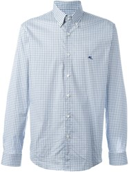 Etro Diamond Print Shirt Blue
