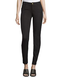 Minnie Rose Skinny Stretch Twill Ankle Pants Black
