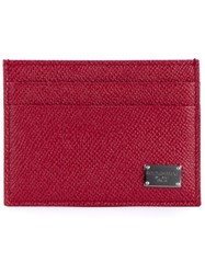 Dolce And Gabbana 'Dauphine' Card Holder Red