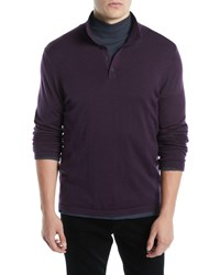 Vince Long Sleeve Wool Cashmere Polo Shirt H Carbon