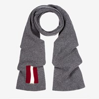 Bally Trainspotting Stripe Scarf Grey Grey Light